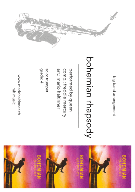 Bohemian Rhapsody - Queen, comp. Freddie Mercury - Jazz Ensemble - score only
