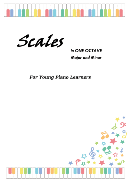 Scales in 1 Octave for young piano learner