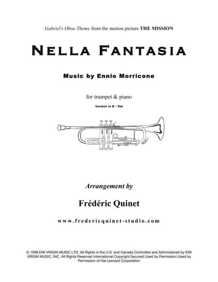 Nella Fantasia for trumpet and piano (version in B - flat)