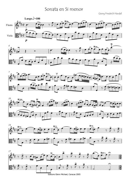 Sonata in B minor for Flute & Viola