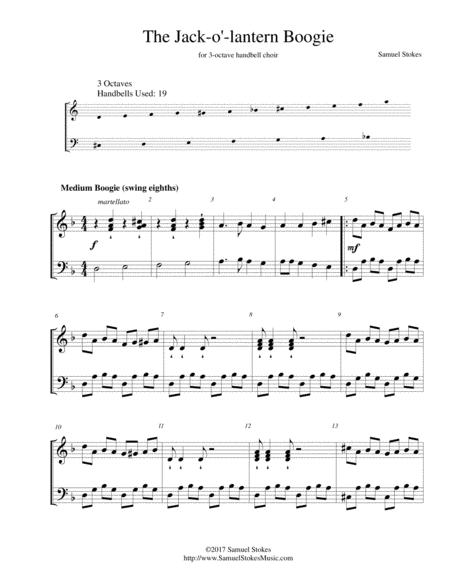 The Jack-o'-lantern Boogie - for 3-octave handbell choir