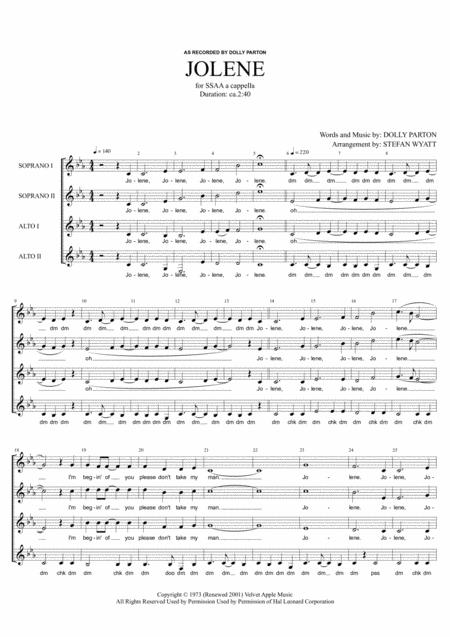Jolene - SSAA a cappella