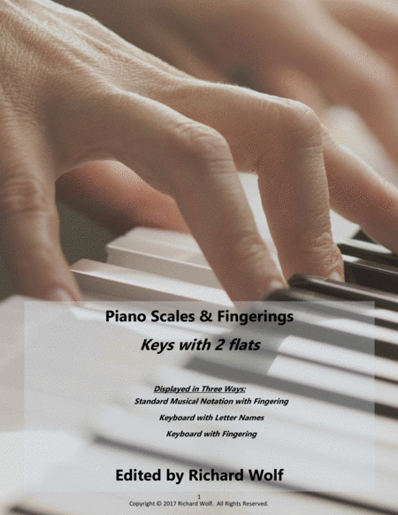 Piano Scales and Fingerings - Keys with 2 sharps