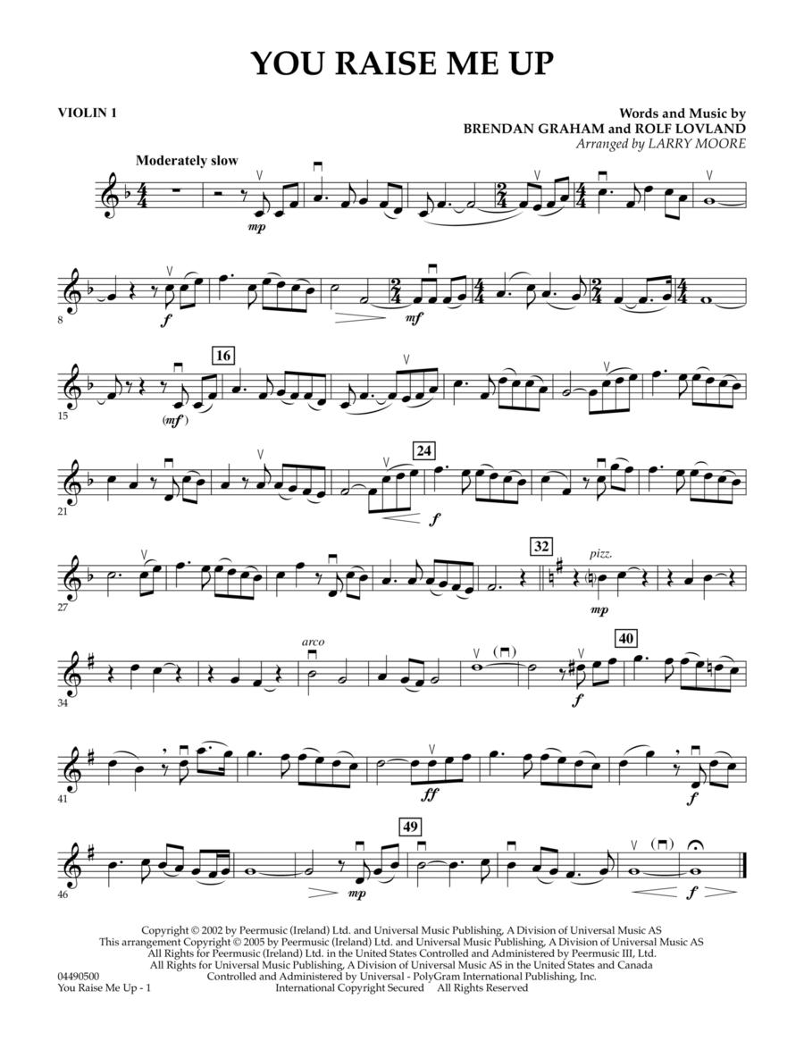 You Raise Me Up - Violin 1