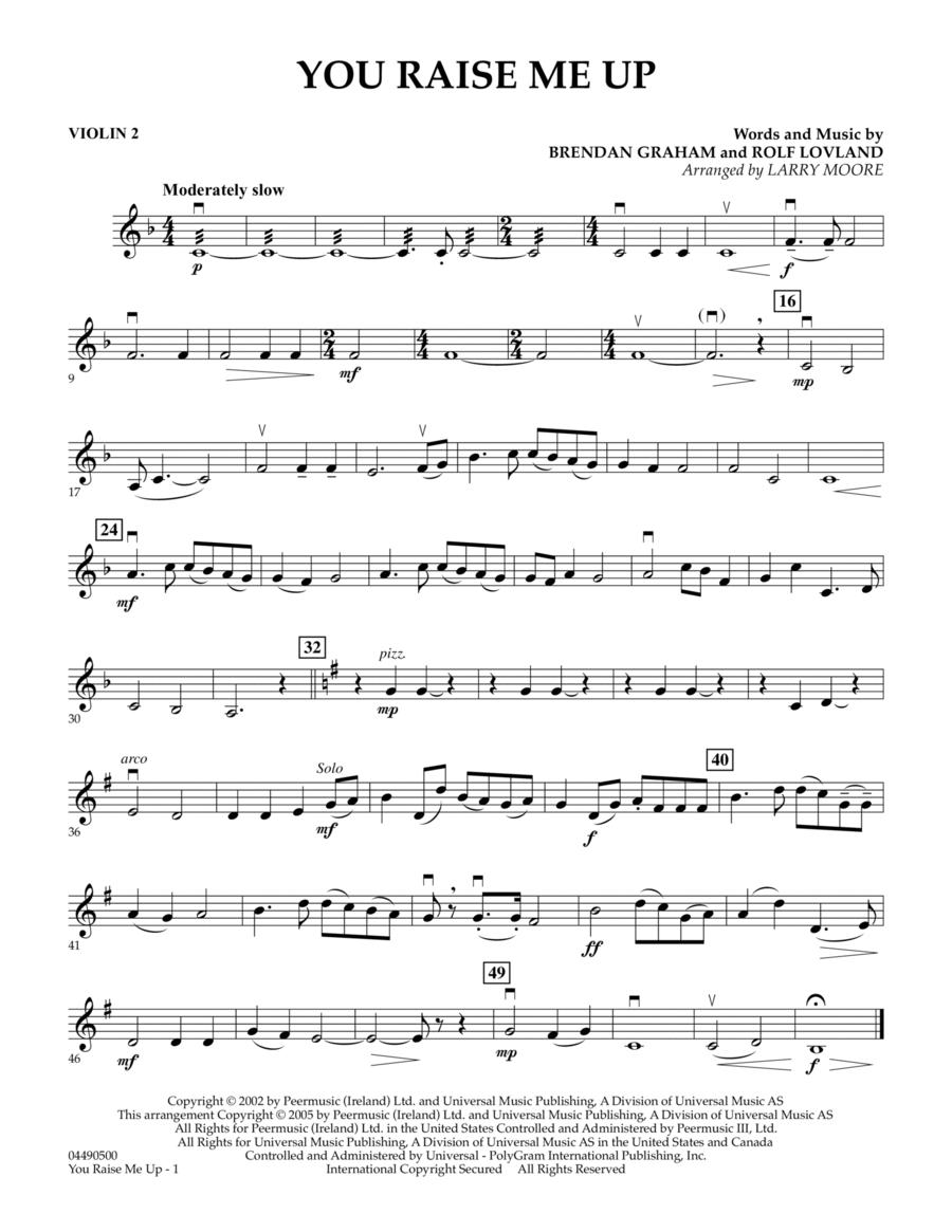 You Raise Me Up - Violin 2
