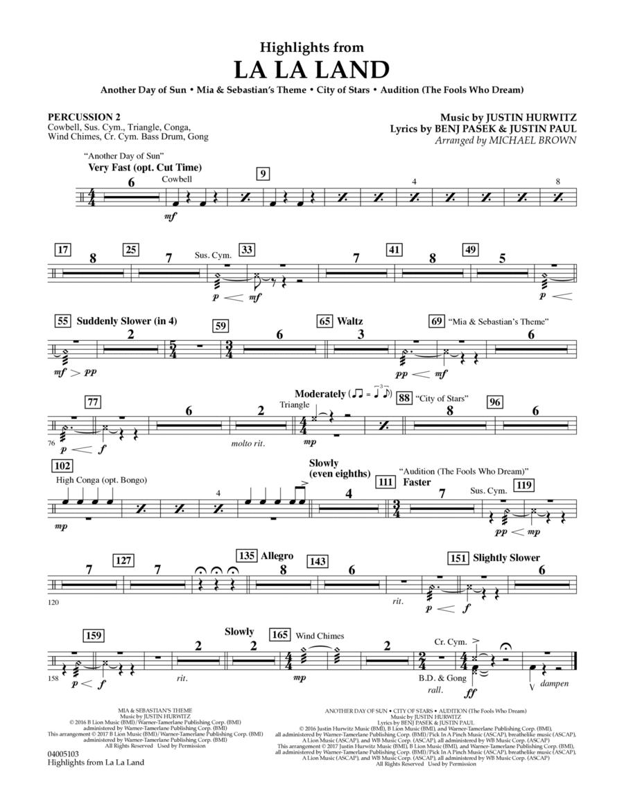 Highlights from La La Land - Percussion 2