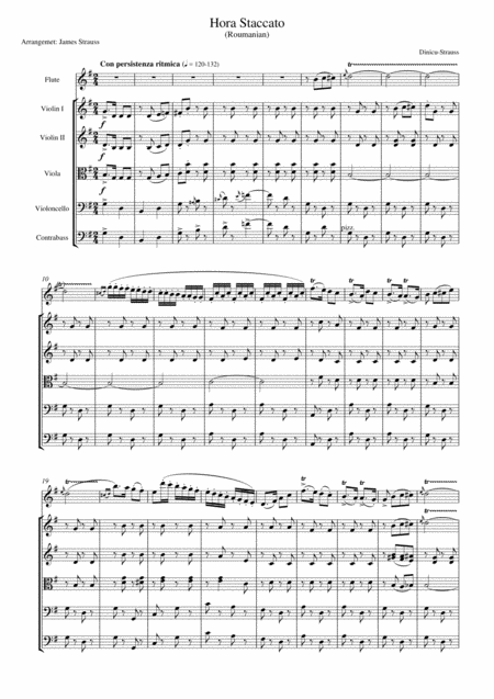Hora Staccato for flute and String Orchestra