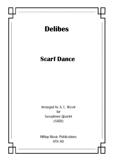 Scarf Dance arr. saxophone quartet (SATB)