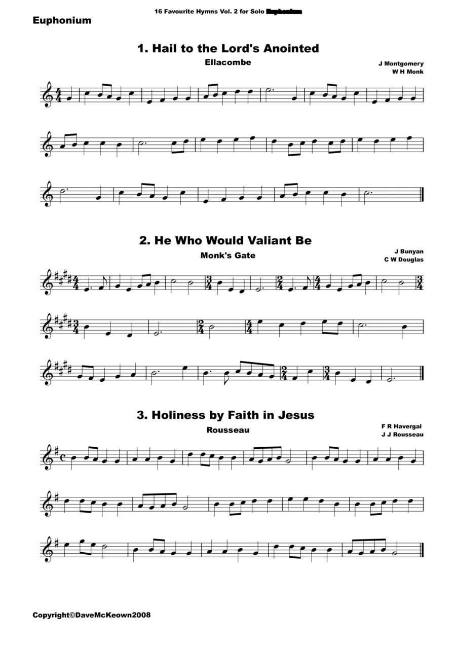 16 Favourite Hymns Vol.2 for solo Euphonium