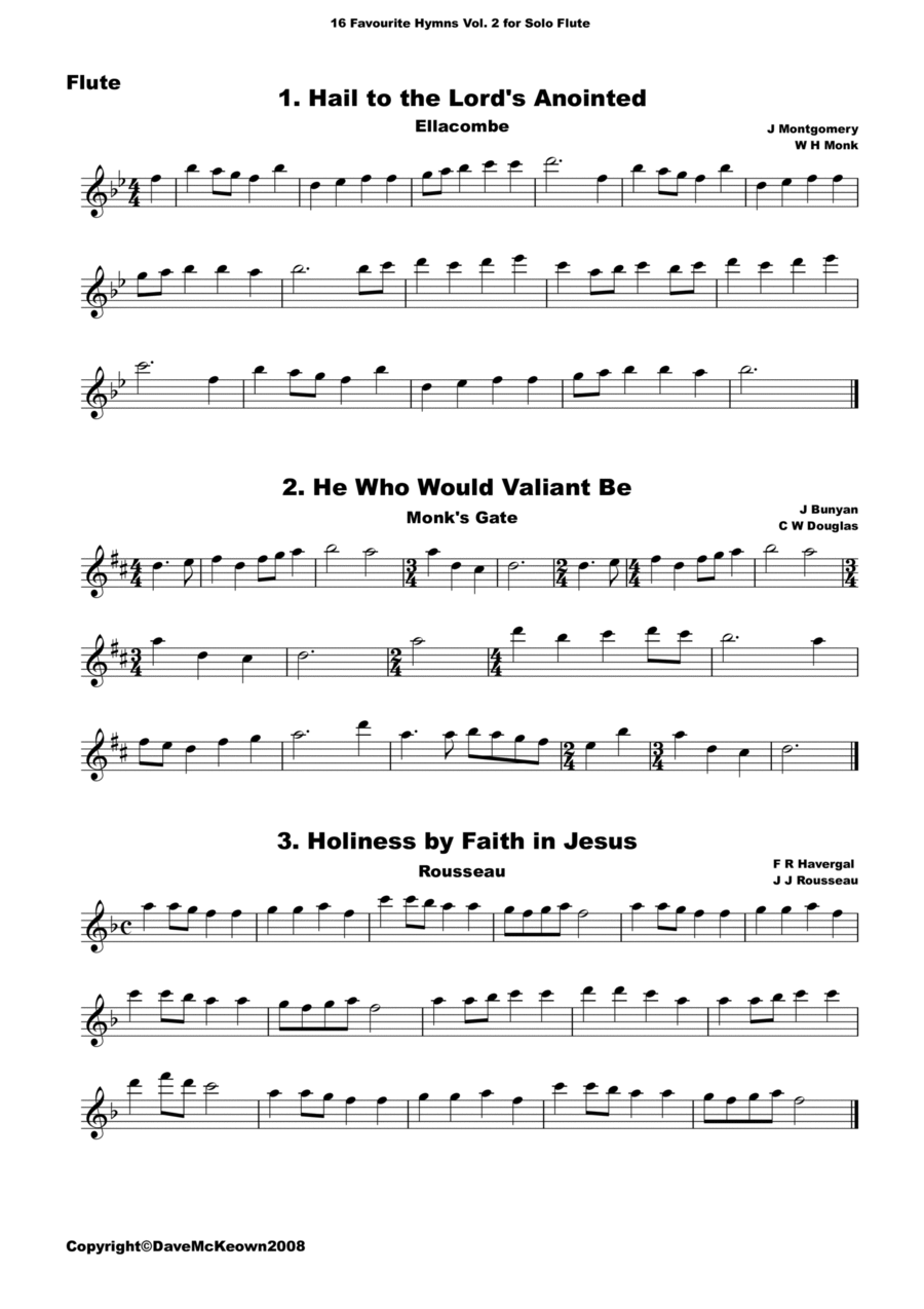 16 Favourite Hymns Vol.2 for solo Flute