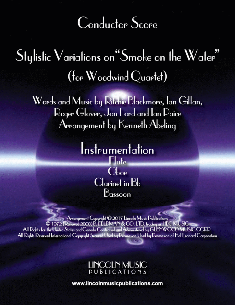 "Stylistic Variations on ""Smoke on the Water"" (for Woodwind Quartet)"