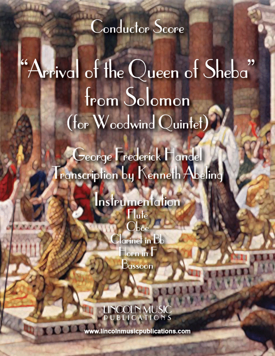 Arrival of the Queen of Sheba (for Woodwind Quintet)