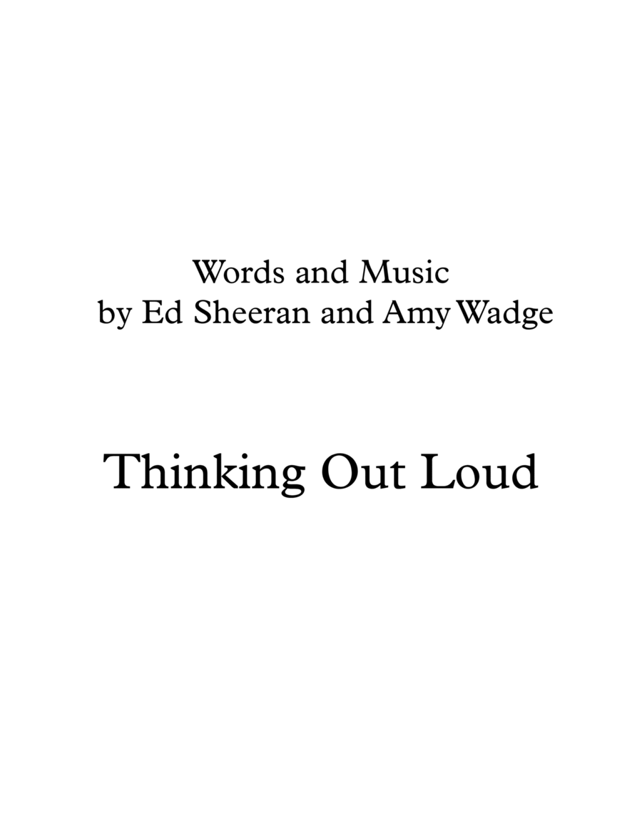 Thinking Out Loud String Duo