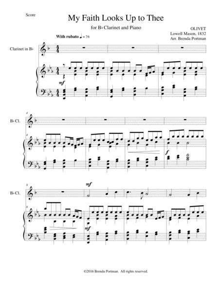 My Faith Looks Up to Thee (clarinet/piano)