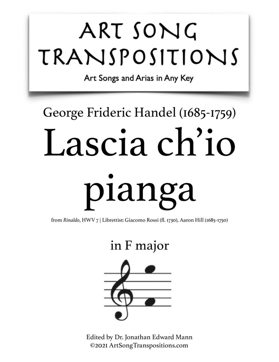 Lascia ch'io pianga (in 2 medium keys: E-flat, D major)