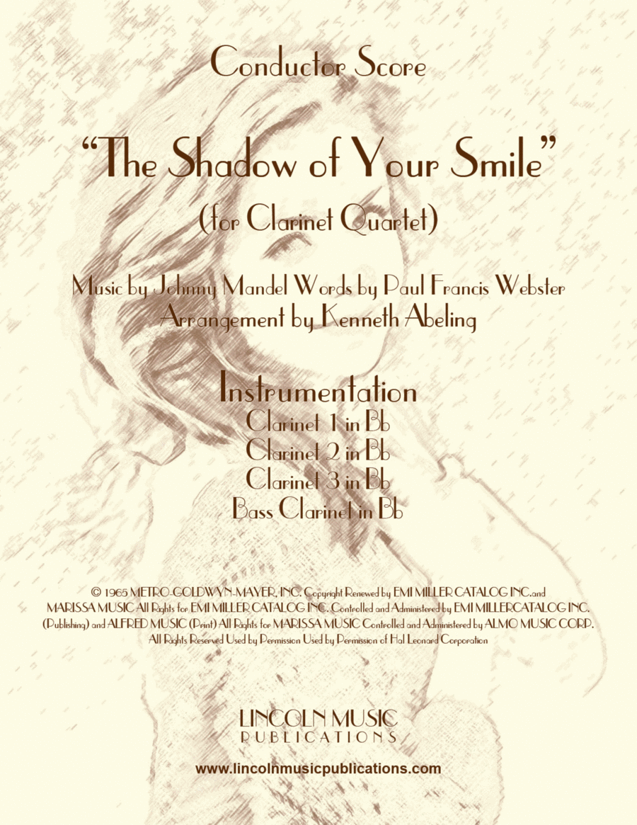 The Shadow of Your Smile (for Clarinet Quartet)