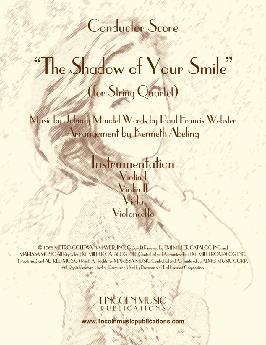 The Shadow of Your Smile (for String Quartet)