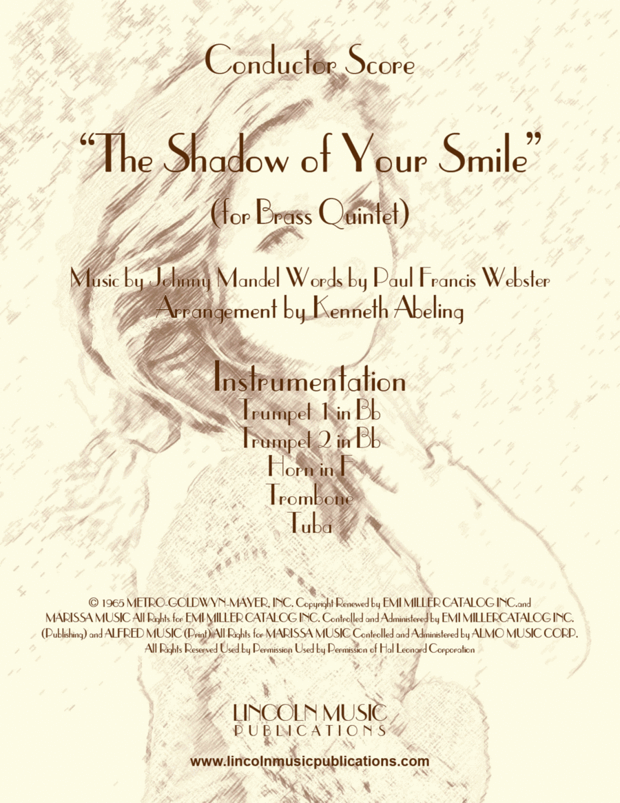 The Shadow of Your Smile (for Brass Quintet)