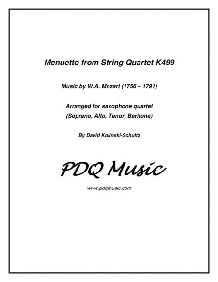 Menuetto for Sax Quartet