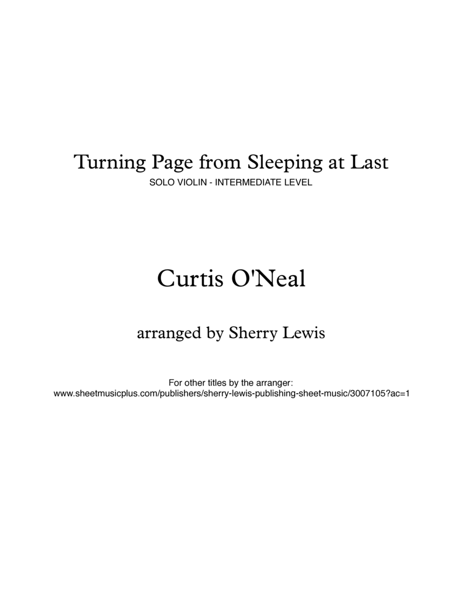 Turning Page String Solo