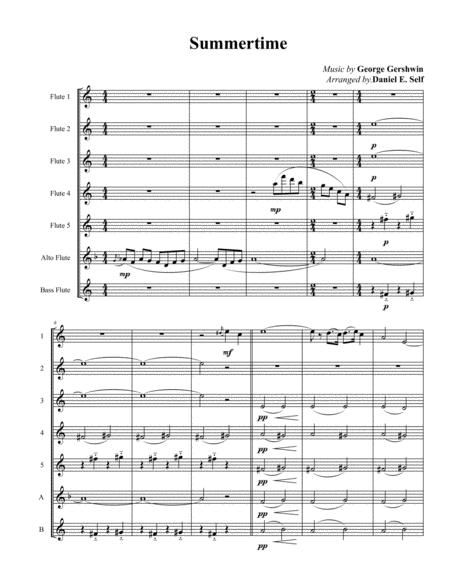 Summertime (Flute Choir)