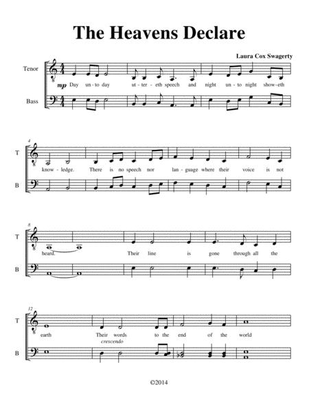 The Heavens Declare (A Cappella)