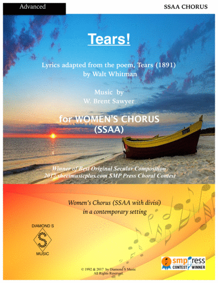 Tears! -  for A cappella Women's Chorus (SSAA)