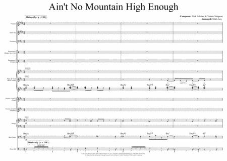 Ain't No Mountain High Enough (Vocalist, Rhythm Section & Horns)