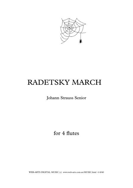 RADETSKY MARCH  Johann Strauss  for 4 flutes