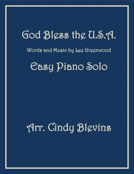 God Bless The U.S.A., an Easy Piano Solo arrangement