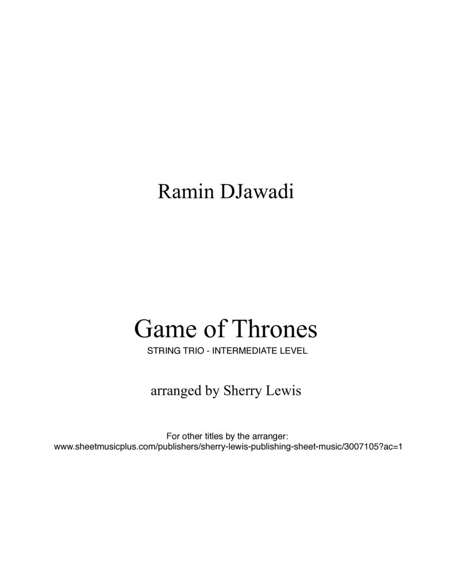 Game Of Thrones STRING TRIO