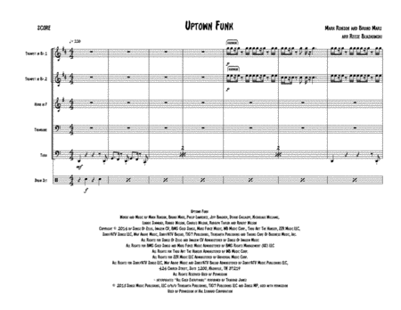 Uptown Funk - Brass Quintet