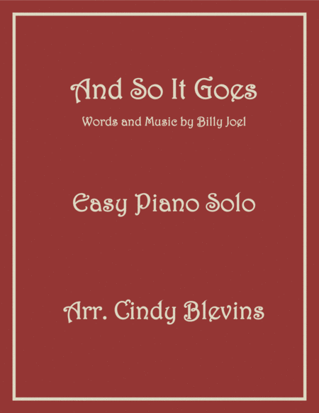 And So It Goes, an Easy Piano Solo arrangement