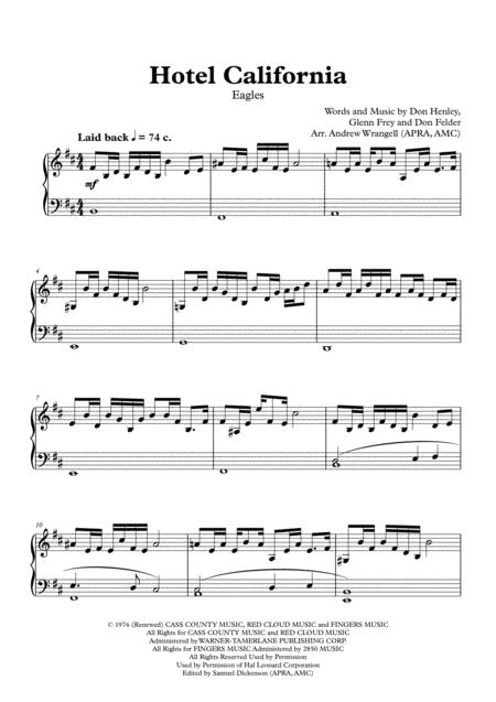 Hotel California (Piano)