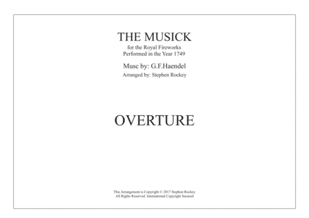 Musick for the Royal Fireworks: OVERTURE