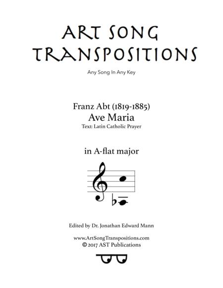 Ave Maria (A-flat major)