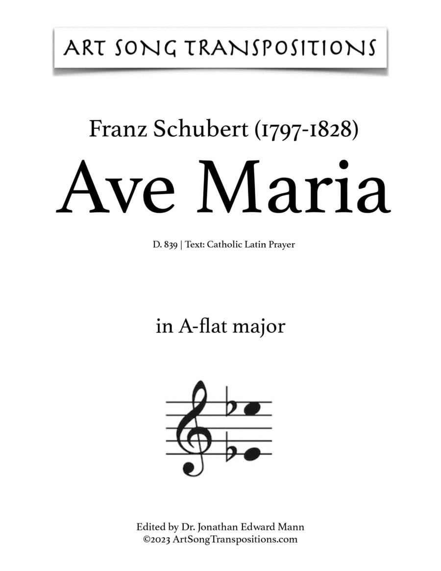 Ave Maria, D. 839 (in 3 high keys: C, B, B-flat major, Latin)