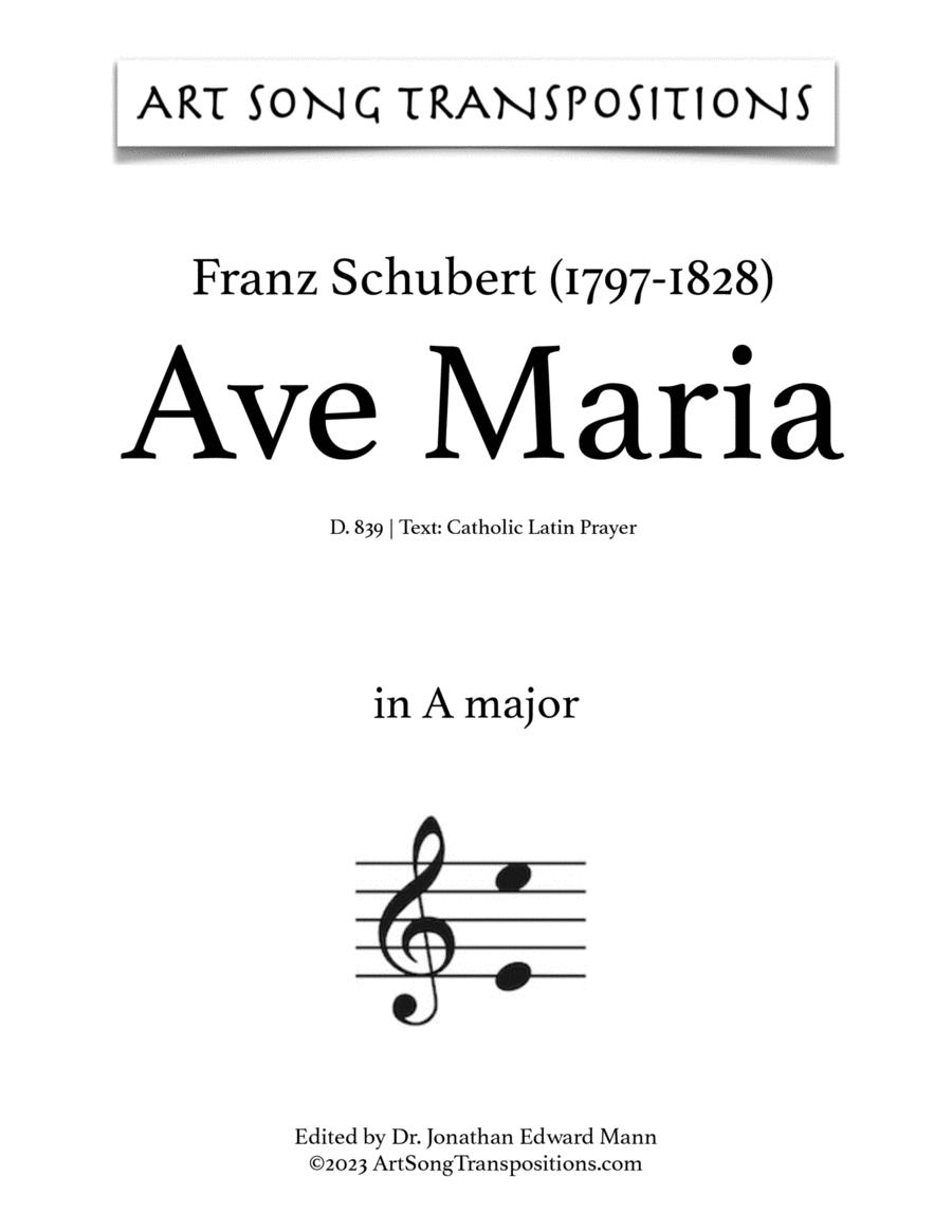 Ave Maria, D. 839 (in 3 low keys: G, G-flat, F major, Latin)