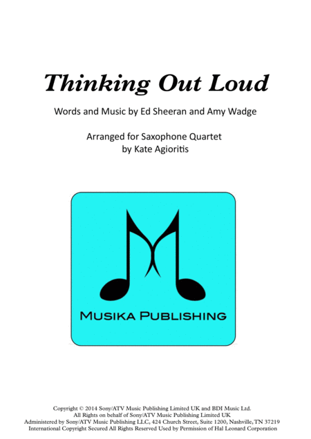 Thinking Out Loud - for Saxophone Quartet