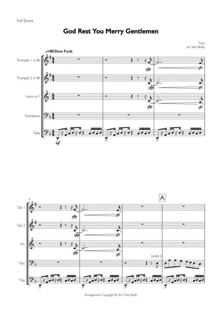 God Rest You Merry Gentlemen for Brass Quintet (Funk arrangement)
