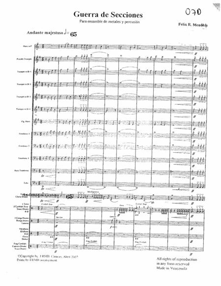 Guerra de secciones - Felix Mendoza - Brass Ensemble