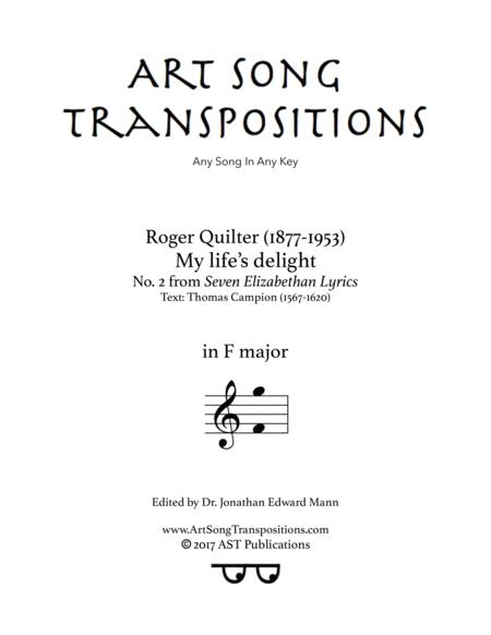 My life's delight, Op. 12 no. 2 (F major)