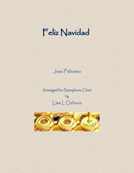 Feliz Navidad for Saxophone Choir