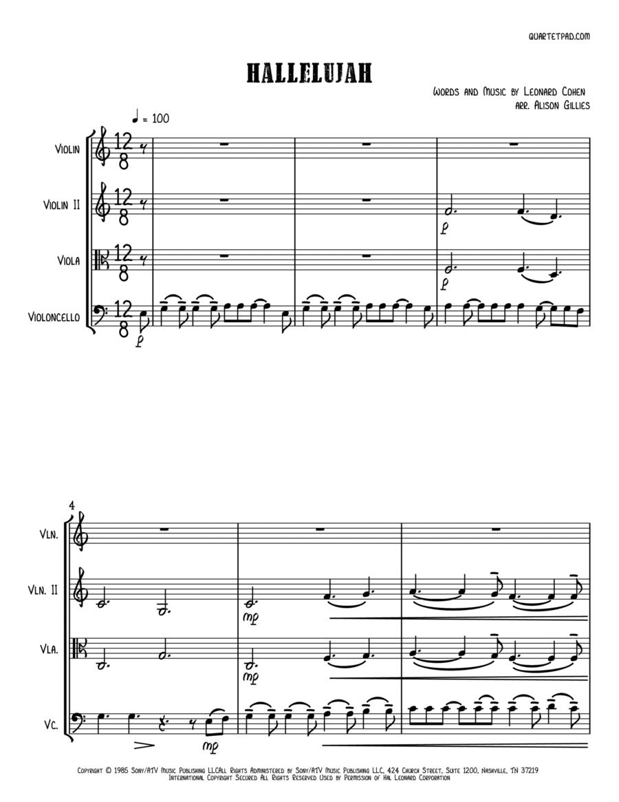 Hallelujah - String Trio (vln/vla/vc)