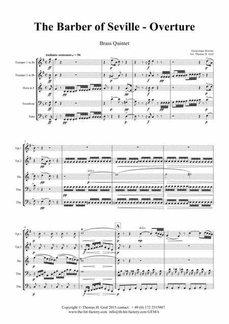 The Barber of Sevilla - Overture - Brass Quintet