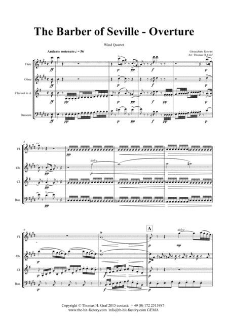The Barber of Sevilla - Overture - Wind Quartet