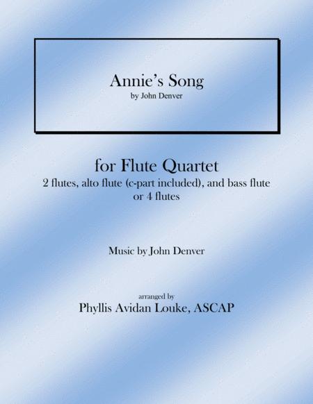 Annie's Song for Flute Quartet