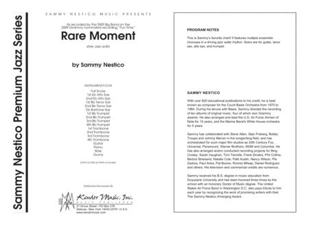Rare Moment - Full Score