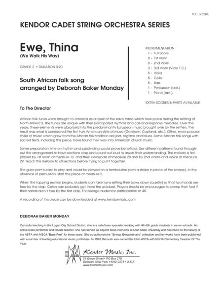 Ewe, Thina (We Walk His Way) - Full Score