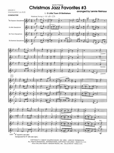 Christmas Jazz Favorites #3 - Full Score